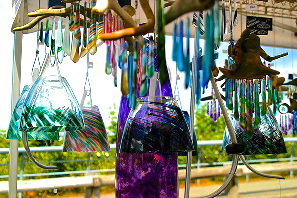 Glass booth  (photo courtesy of Debra Campbell Designs)