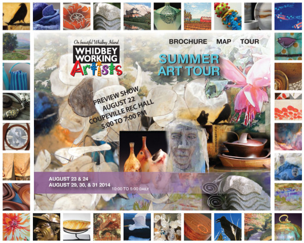 Whidbey Working Artists Summer Art Tour poster