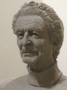 Self-portrait of Frank Rose in sculpted in clay. (photo courtesy of the artist)