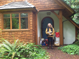 The author at her last cottage  (photo by David Ossman)