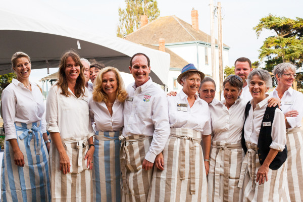 A delightful group of servers. You may recognize your friends and neighbors. They kept us all entertained, well fed and served delicious food with their whole hearts. Photo credit: Audra Mulkern