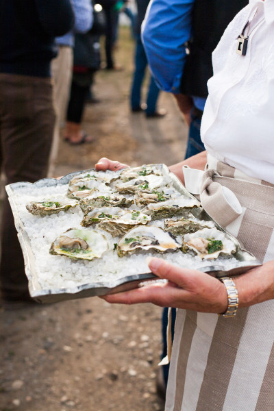 Grilled oysters, snail butter. Photo credit: Audra Mulkern