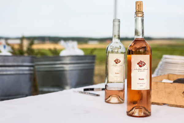 Whidbey Island Winery Rosato. Photo credit: Audra Mulkern