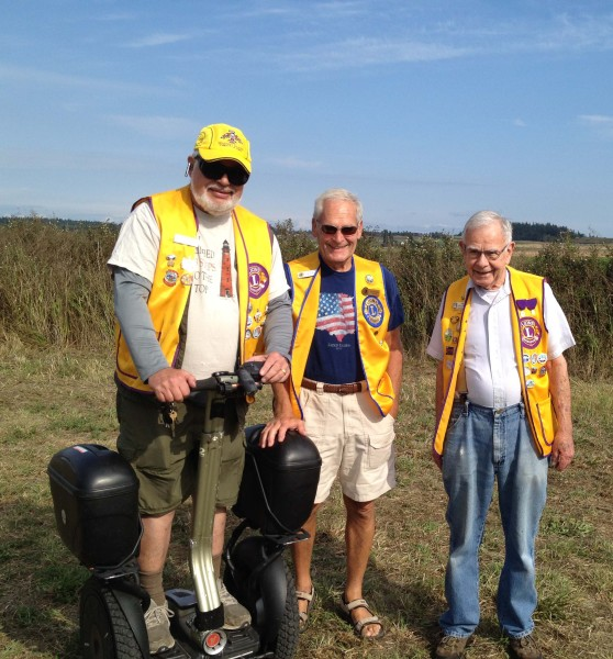 Dave Fish, Hugh Hedges and Jim Colligan represent part of the Coupeville Lions team that volunteered. Photo credit: Vicky Brown