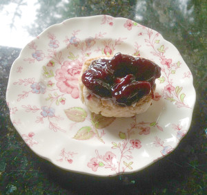 Homemade jam and homemade biscuit equals one teaspoon paradise  (photo by Judith Walcutt)