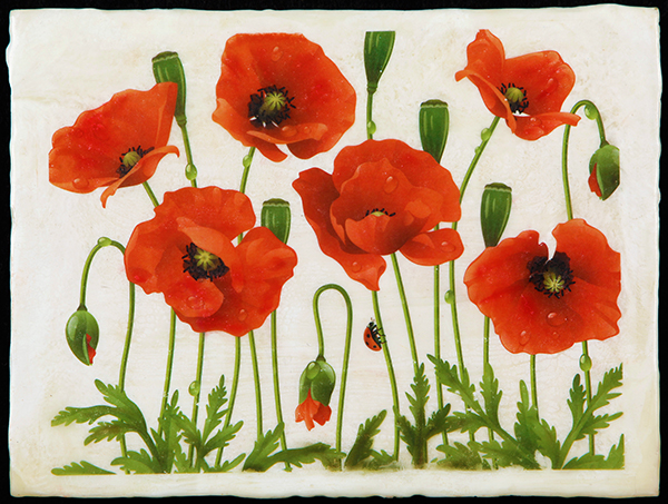 """Poppies,"" by Anne Smidt (photo by Michael Stadler, Stadler Studio)"