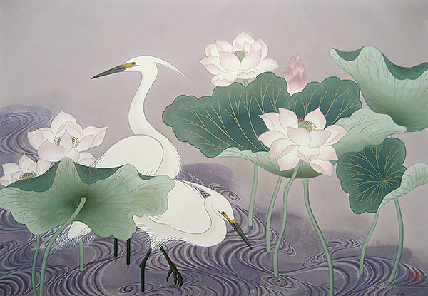 """Herons""  (image courtesy of the artist)"