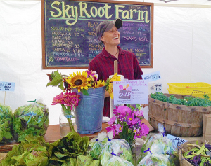 Skyroot Farm, located in Clinton, offers produce at Bayview Farmers Market and CSA boxes.  (photo by Vicky Brown)