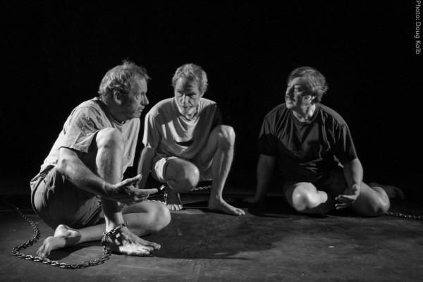 "Jim Carroll, Tim O'Brien and Brian Plebanek in Frank McGuiness' ""Someone Who'll Watch Over Me."" / Doug Kolb photo"