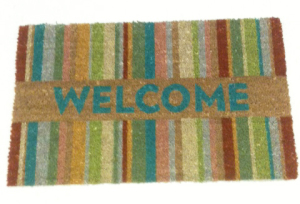 "Even the mats say ""Welcome"" here!  (photo by author)"