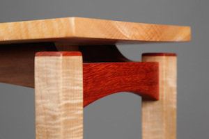 A detail of one of Launer's tables shows the expert handle he has on the craft. / Photos by Michael Stadler
