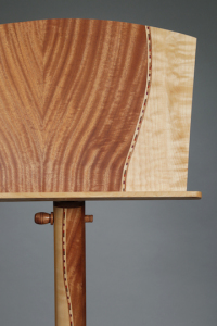 Launer's exquisitely made music stands are special; inspired by the late local master musician, Michael Nutt.