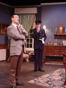 "George in ""A Murder is Announced"" (photo courtesy of George Henny)"