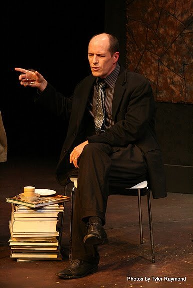 "George in ""God of Carnage"" at WICA (photo by Tyler Raymond)."