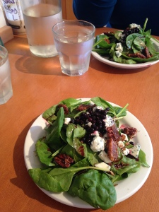 Tasty salads from Whidbey Pies Cafe (photo by Sam McCarthy)