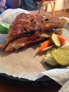Turkey panini from Whidbey Pies Cafe (photo by Les McCarthy)