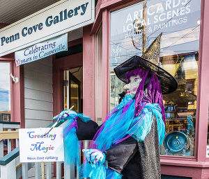 A special greeter will meet you at the door to Penn Cove Gallery  (photo by Denis Hill)