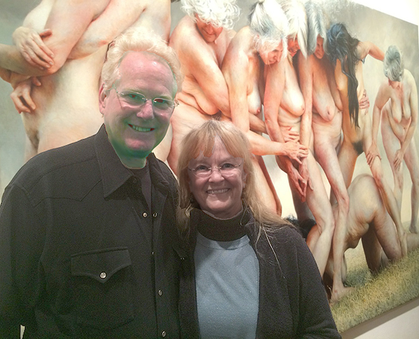 Rick and Lynnaea Lumbard at the opening reception in London for artist Aleah Chapin  (photo by Victoria Watson)