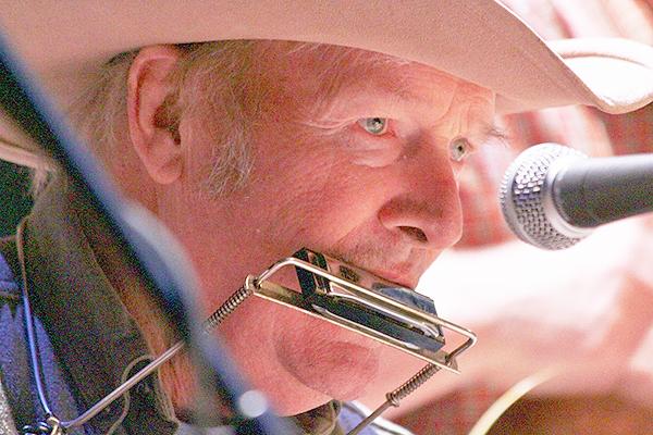 Gordy Adams on blues harmonica  (photos by Martha McCartney)