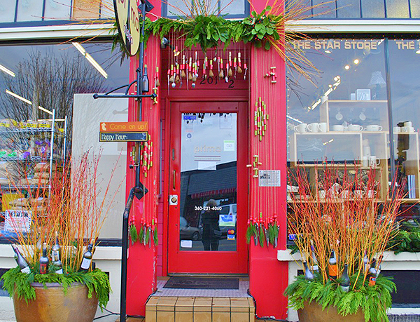 Prima Bistro's front door, created by Toby Nelson