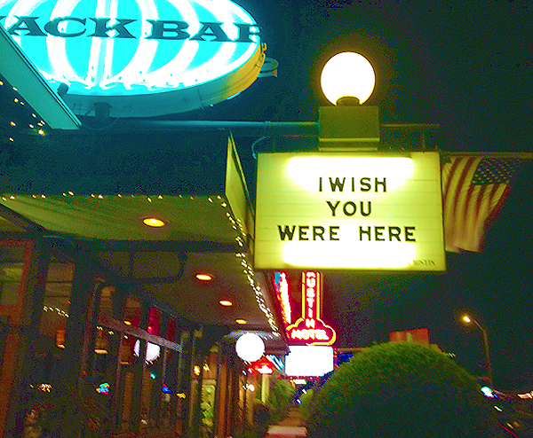 """Wish you were here!"""