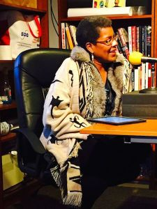 Tananarive Due reading at Whidbey Air Radio (photo by Stephanie Barbé Hammer)