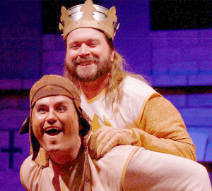 King Arthur and his trusty Patsy, left to right: Lukas Lowder and Nathan McCartney