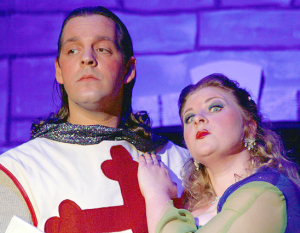 Sir Galahad and Lady of the Lake, left to right: Jim Castaneda and Amanda McCartney