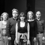 The cast of Other Desert Cities: Left to Right, Heather Ogilvy, Andrew Grenier, Deana Duncan, Shelley Hartle and David Mayer. (photo courtesy of WICA)