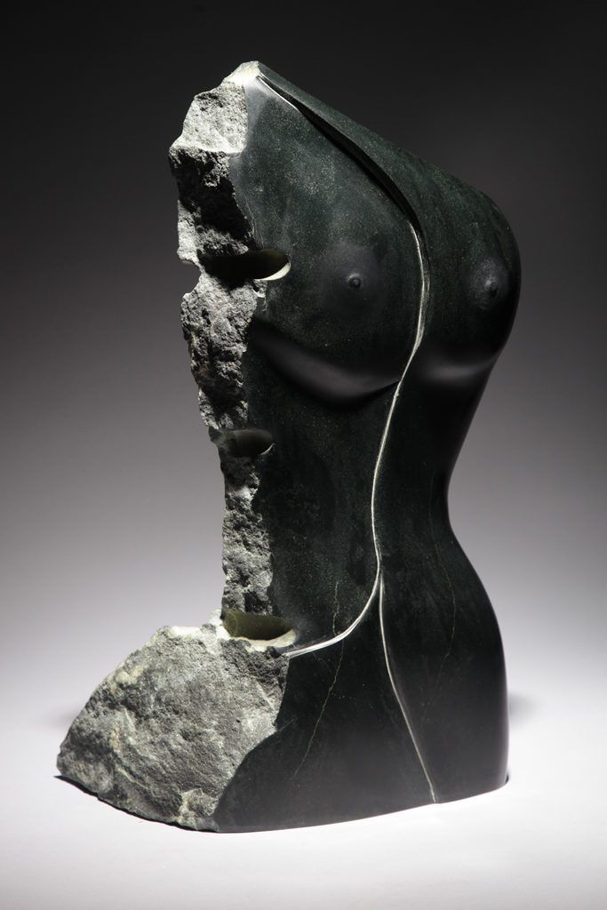 "Penelope Crittenden's ""Dynamite Torso,"" British Columbia chlorite. / Photo courtesy of the artist"