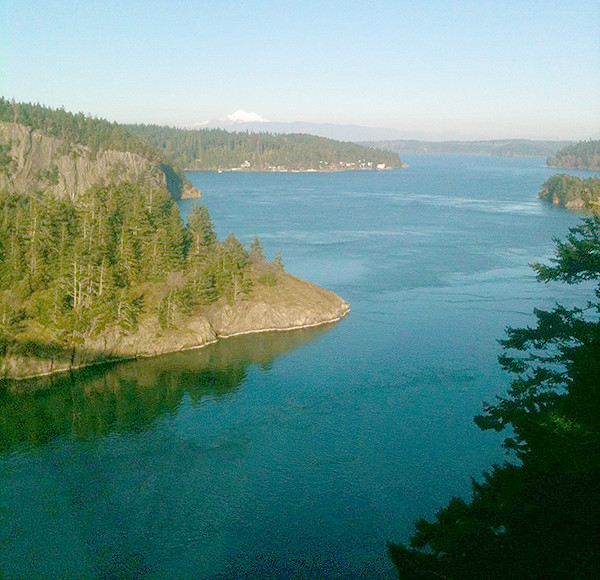 Looking east from Deception Pass bridge  (photo by Les McCarthy)