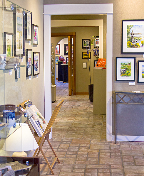 The interior of Whidbey Art Gallery in Langley  (photo provided by the gallery)