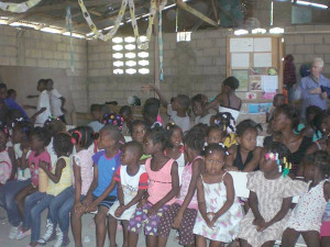 Kids' Club at Petit Goave, Haiti  (photo courtesy of the author)
