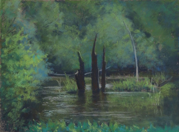 """Earth Sanctuary,"" pastel by Annette Hanna."