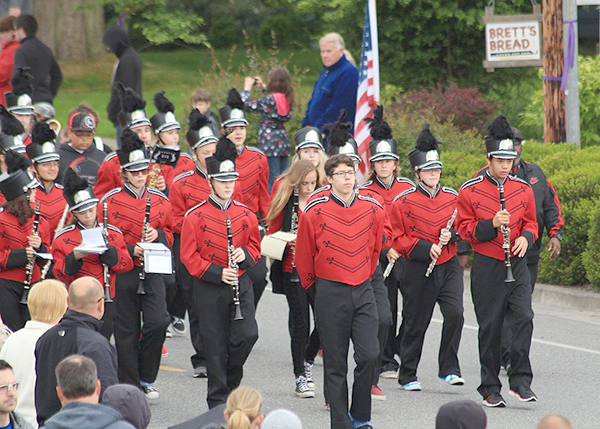 The colorful Coupeville Band  (photo by Martha McCartney)