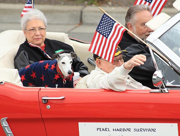 Pearl Harbor Survivor Harold Johnson  (photo by Martha McCartney)