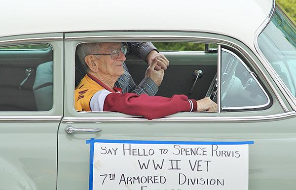 World War II Vet Spence Purvis  (photo by Martha McCartney)