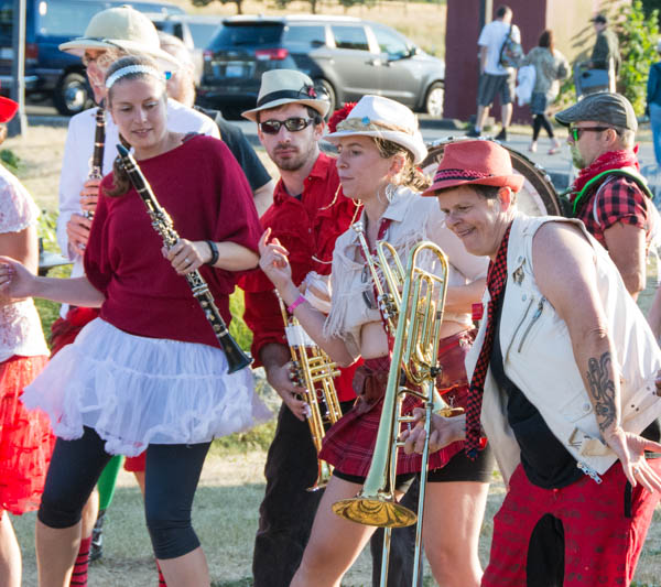 Extraordinary Rendition Band members add choreography to their performance