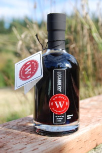 Award Winning Loganberry Liqueur from Whidbey Island Distillery  (photo by Steve Kilisky)