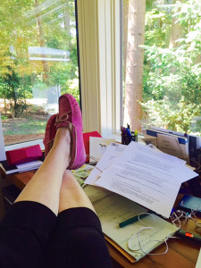 Author's slippers, on her feet... (photo by the author)