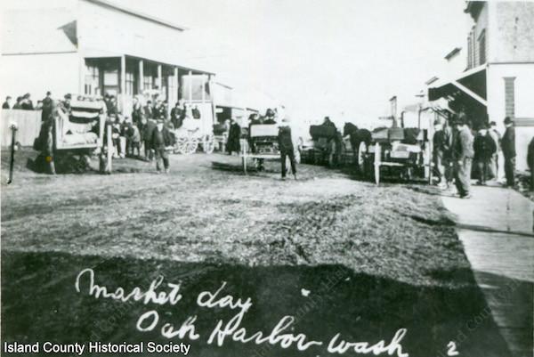 Market Day in Oak Harbor in the early 1900's.
