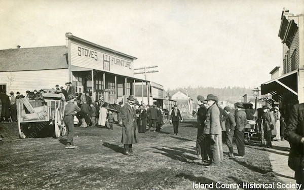 Downtown Oak Harbor in the early 1900's.
