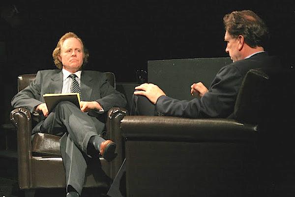 """Jim Scullin as Frost, Ken Church as Nixon in """"Frost/Nixon""""   (photo by Tyler Raymond)"""