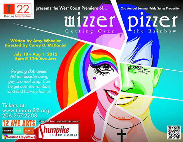 Wizzer Pizzer poster (graphics by Theatre22)