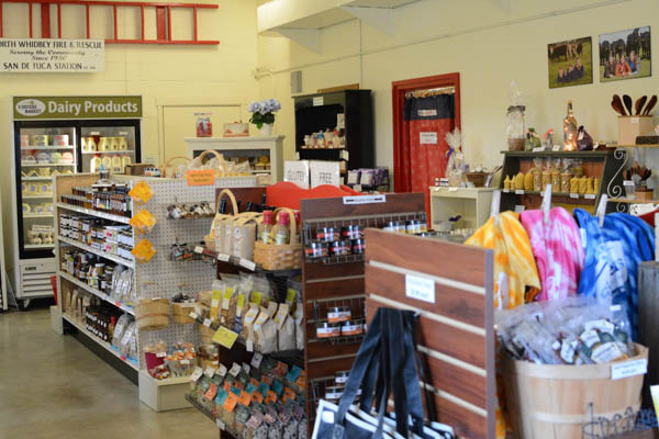 Local products overflow the shelves of 3 Sisters Market, in addition to the sisters' farm products. (photo by Marsha Morgan)