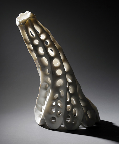"""Specter,"" marble sculpture by Lane Tompkins (photo by Michael Stadler)"