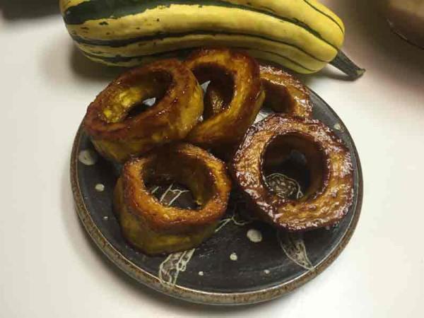 Delicata donuts! Mmmm!