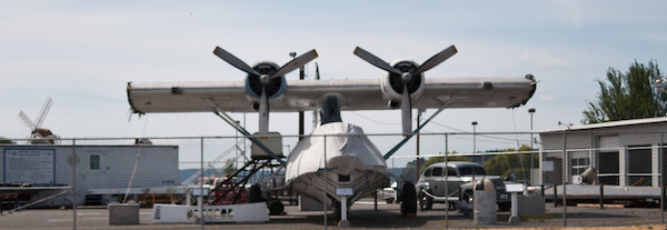PBY-5A aircraft built in 1943 awaiting wings