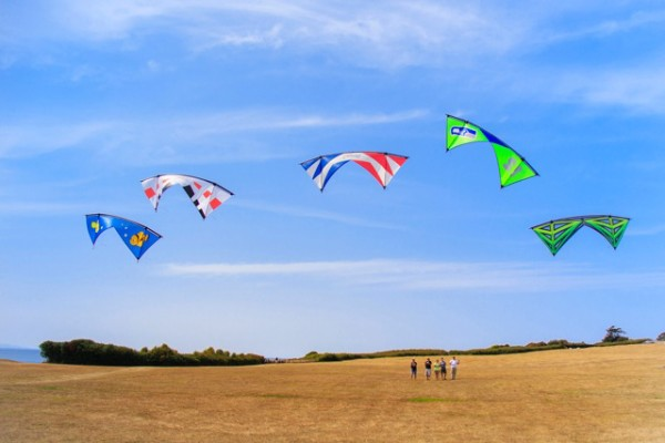 Fort Casey Historical Park is one of the favorite kiting spots on Whidbey Island.