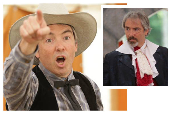 Ken Stephens in The Taming of the Shrew (Gremio, 2014), and The Three Musketeers (Rochefort, 2015)